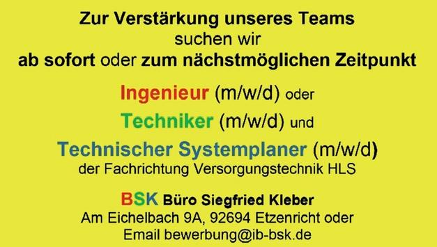 Ingenieur Versorgungstechnik m/w/d