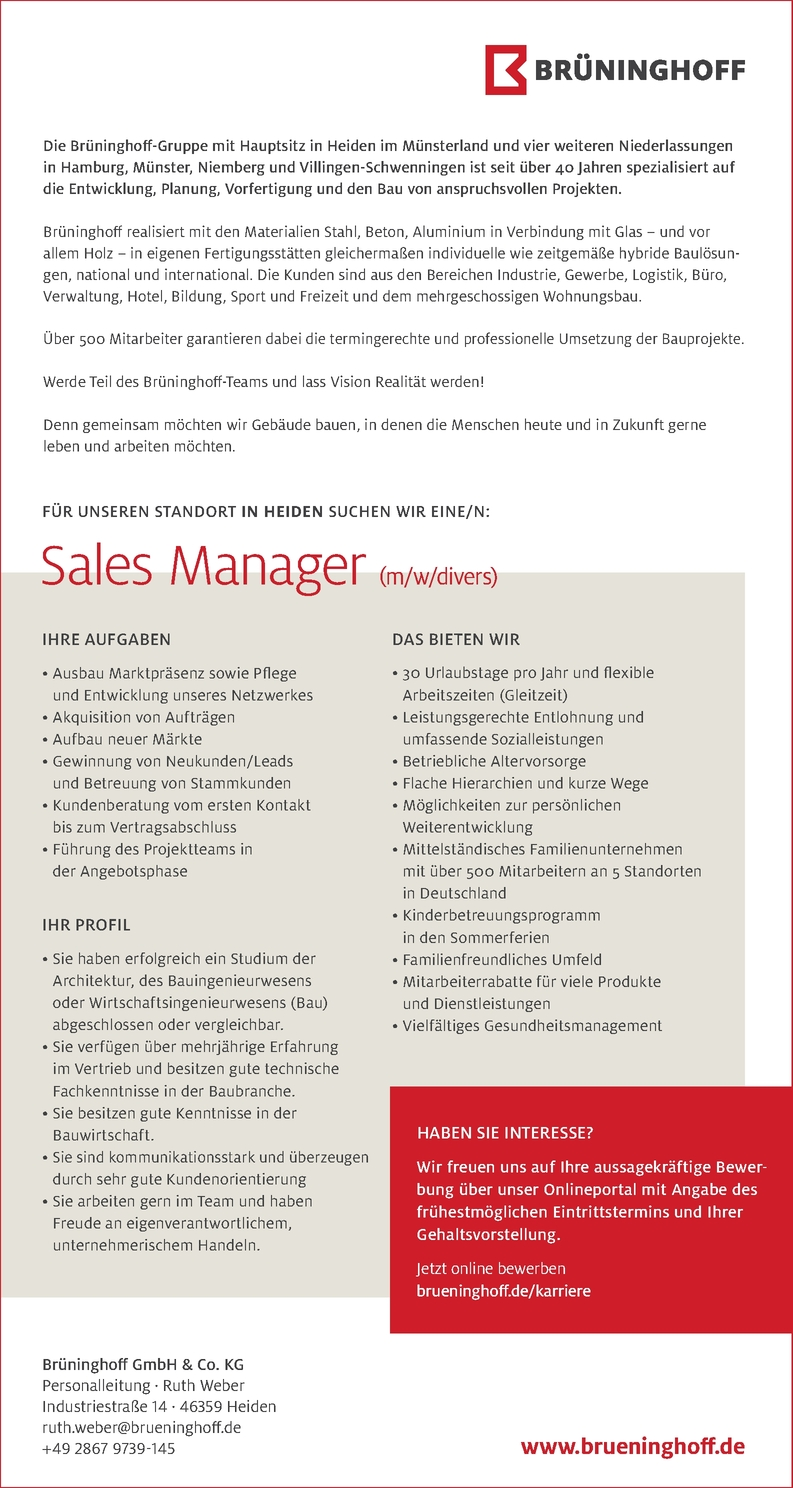Sales Manager (m/w/d)
