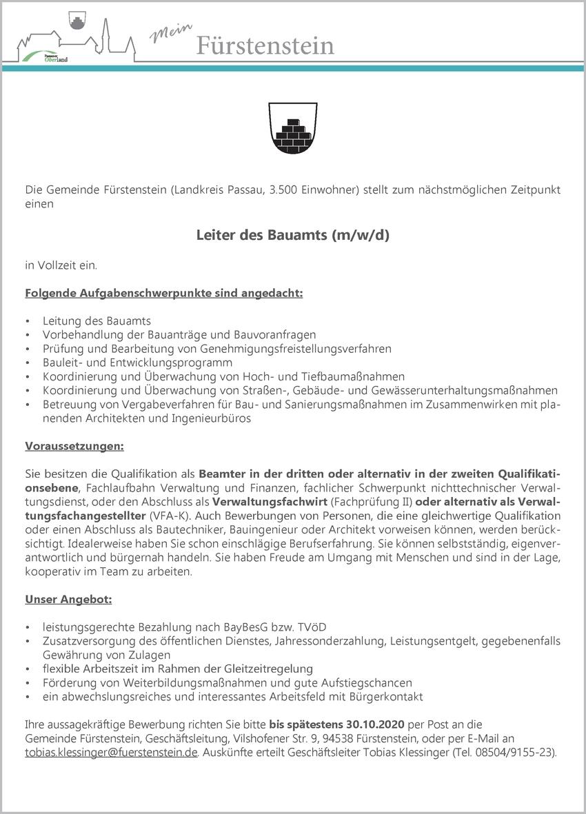 Verwaltungsfachwirt (m/w/d)