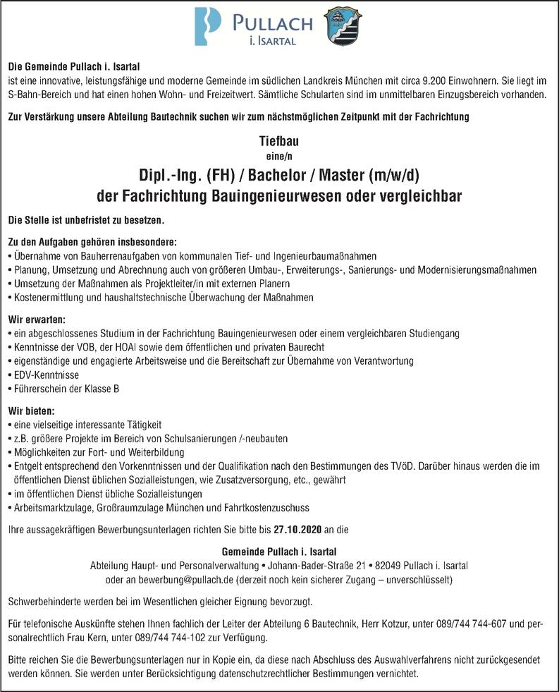 Bauingenieur Tiefbau (m/w/d)