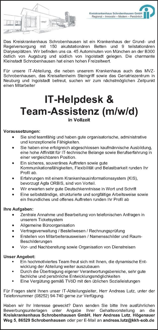IT-Helpdesk Mitarbeiter m/w/d