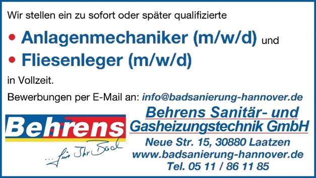 Anlagenmechaniker SHK m/w/d