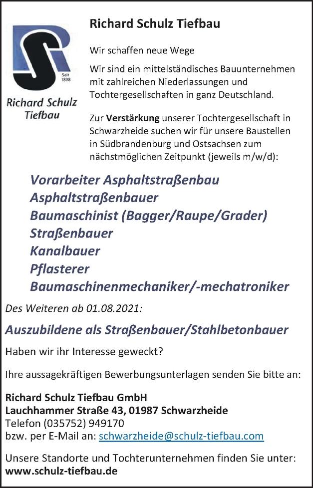 Vorarbeiter Asphaltstraßenbau (m/w/d)