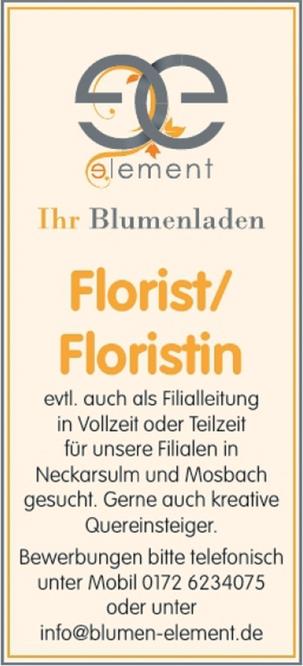 Florist/Floristin
