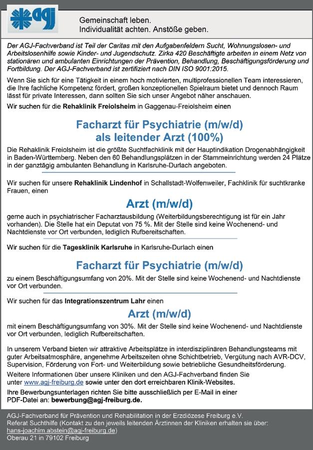 Facharzt für Psychiatrie (m/w/d)