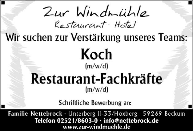 Restaurant-Fachkräfte (m/w/d)