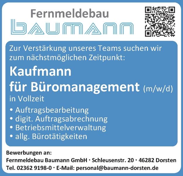 Kaufmann Büromanagement (m/w/d)