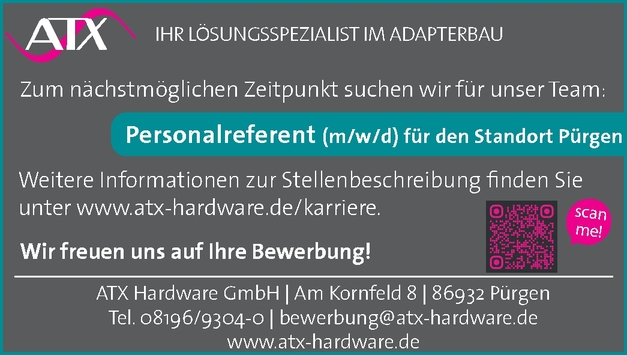 Personalreferent m/w/d
