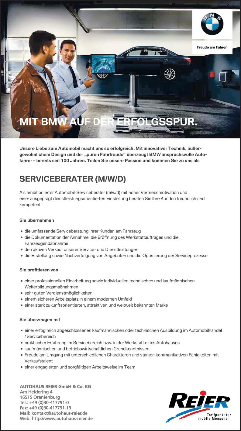 Serviceberater (M/W/D)