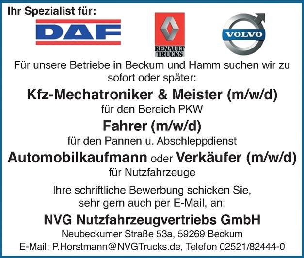Automobilkaufmann für Nutzfahrzeuge (m/w/d)