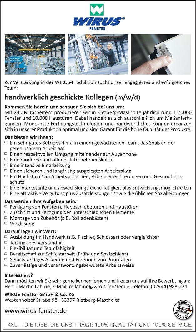 Fensterbauer/in