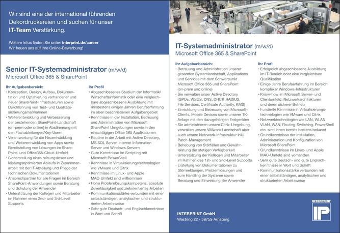 Senior IT-Systemadministrator