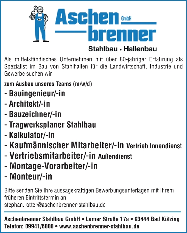 Bauingenieur/-in