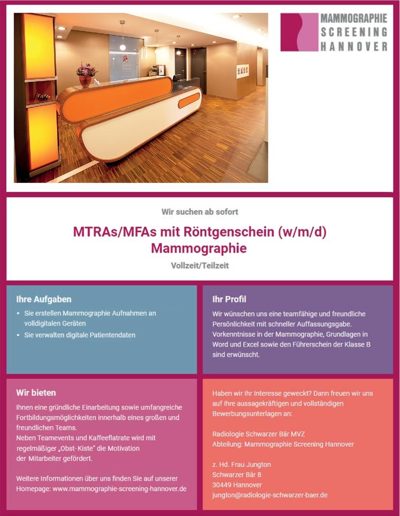 MTRA MFA mit Röntgenschein (m/w/d)