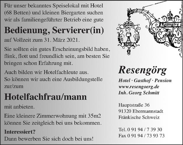 Bedienung, Servierer(in)