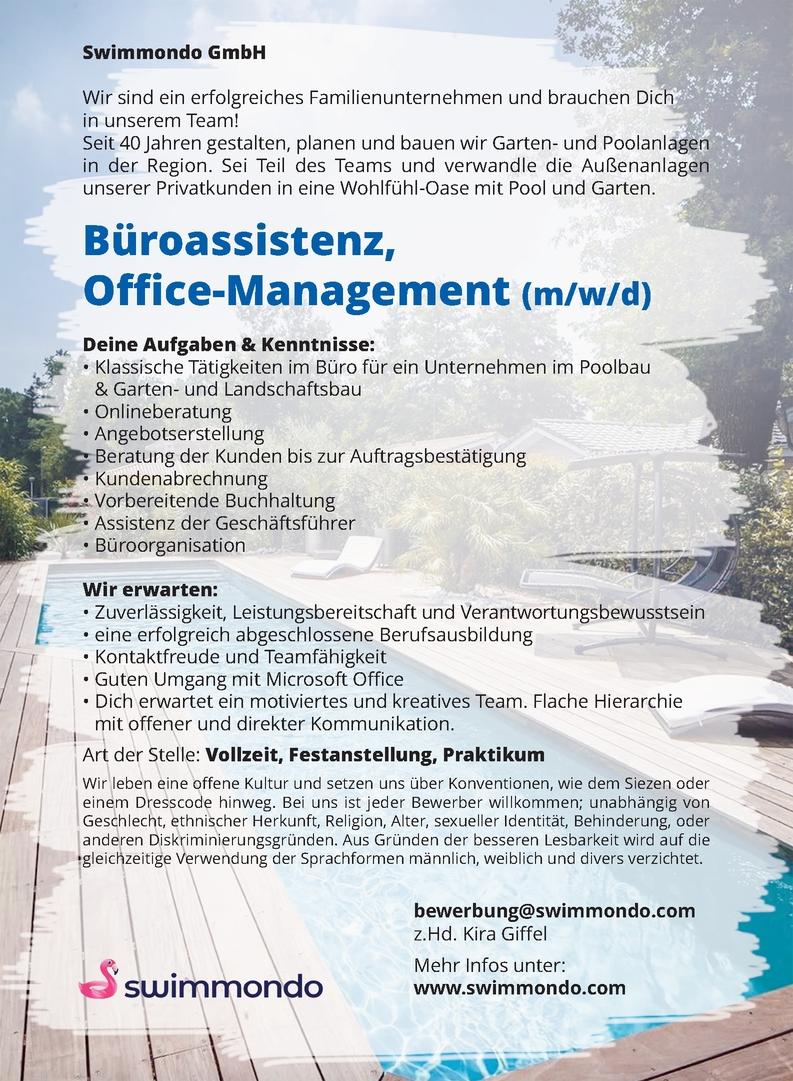 Büroassistenz, Office-Management (m/w/d)