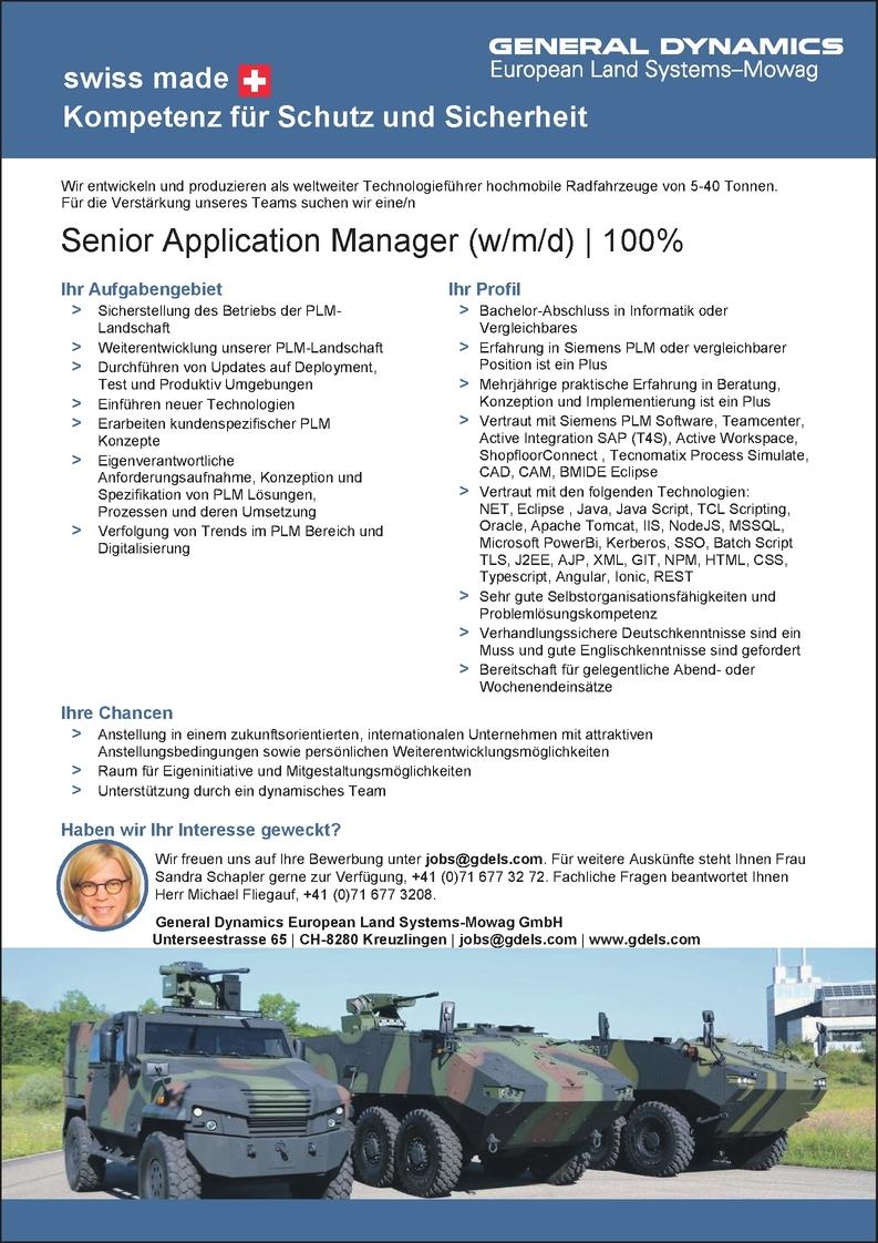 Senior Application Manager