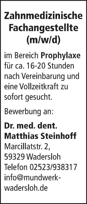 Zahnmedizinische Fachangestellte m/w/d