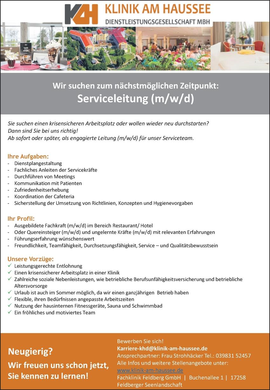 Serviceleitung m/w/d