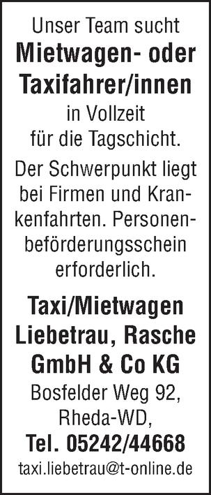 Mietwagen- oder Taxifahrer m/w/d