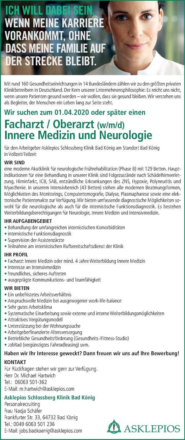 Facharzt Neurologie (m/w/d)