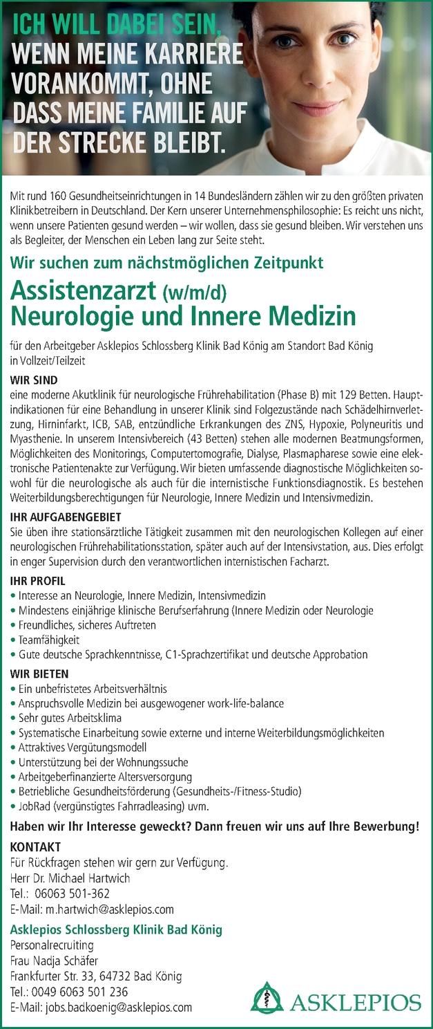 Assistenzarzt Neurologie (m/w/d)