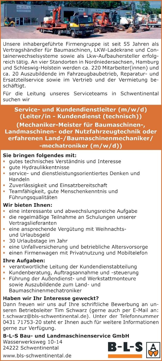 Leiter Kundendienst (m/w/d)