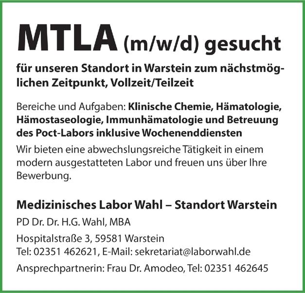 MTLA (m/w/d)