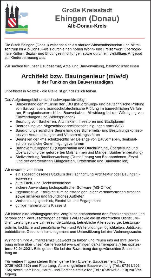 Architekt (m/w/d)