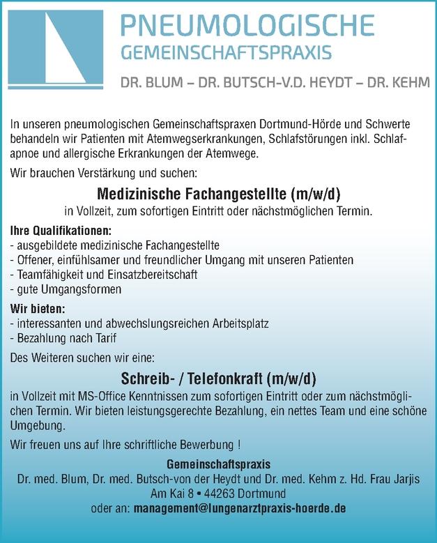 Medizinische Fachangestellte (m/w/d)