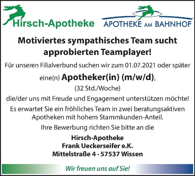 Apotheker (m/w/d)