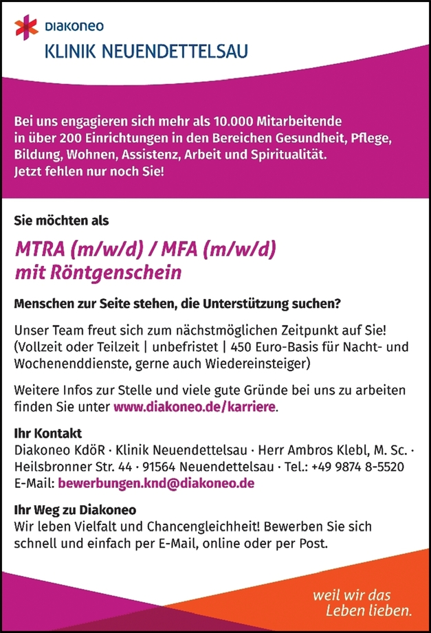 MTRA (m/w/d)