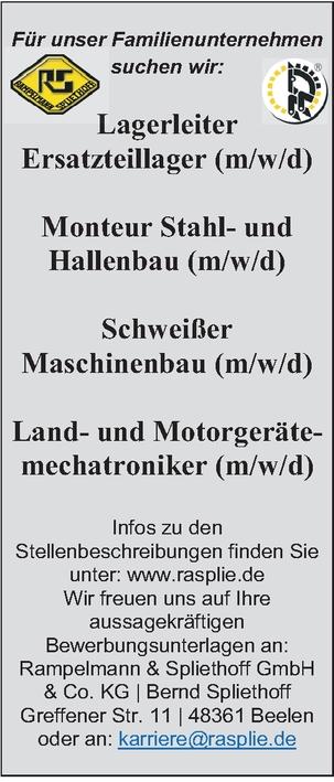 Mechatroniker (m/w/d) Motorgeräte