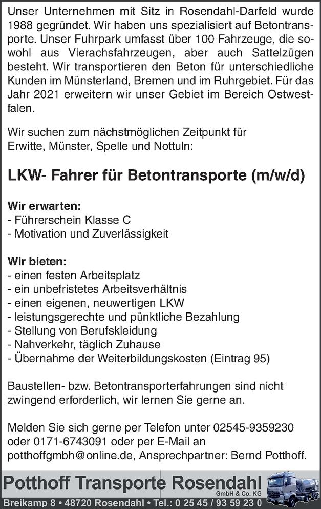 LKW Fahrer (m/w/d)