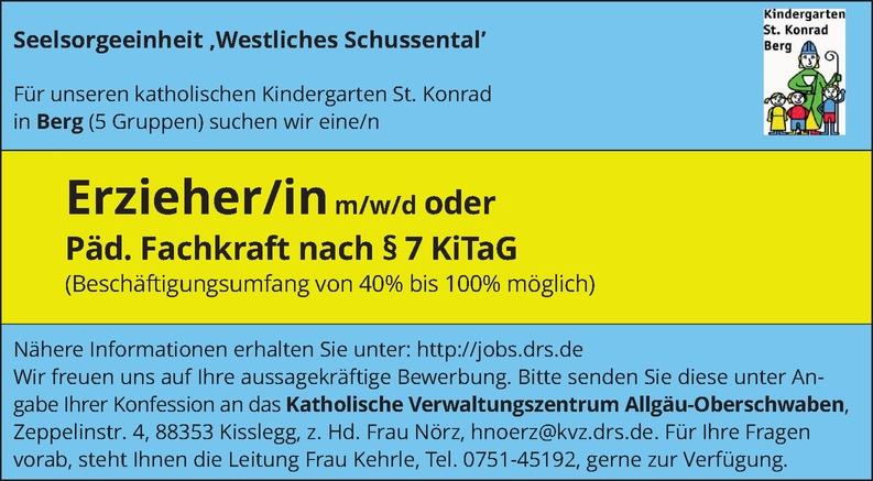 Erzieher / FSJ-Kraft (w/m/d)
