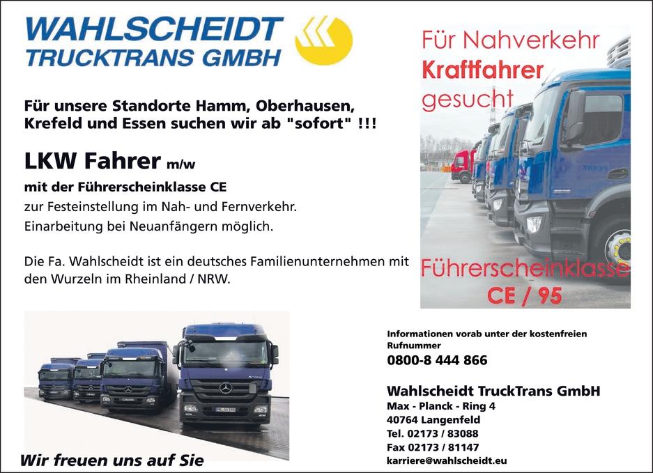 LKW Fahrer m/w/d