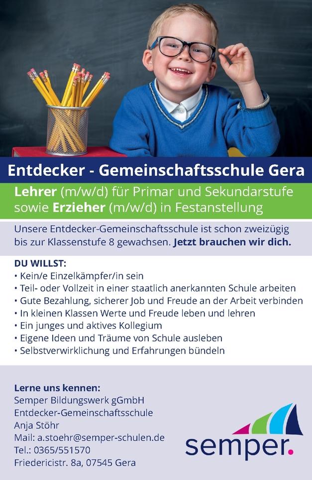 Lehrer - Sekundarstufe m/w/d
