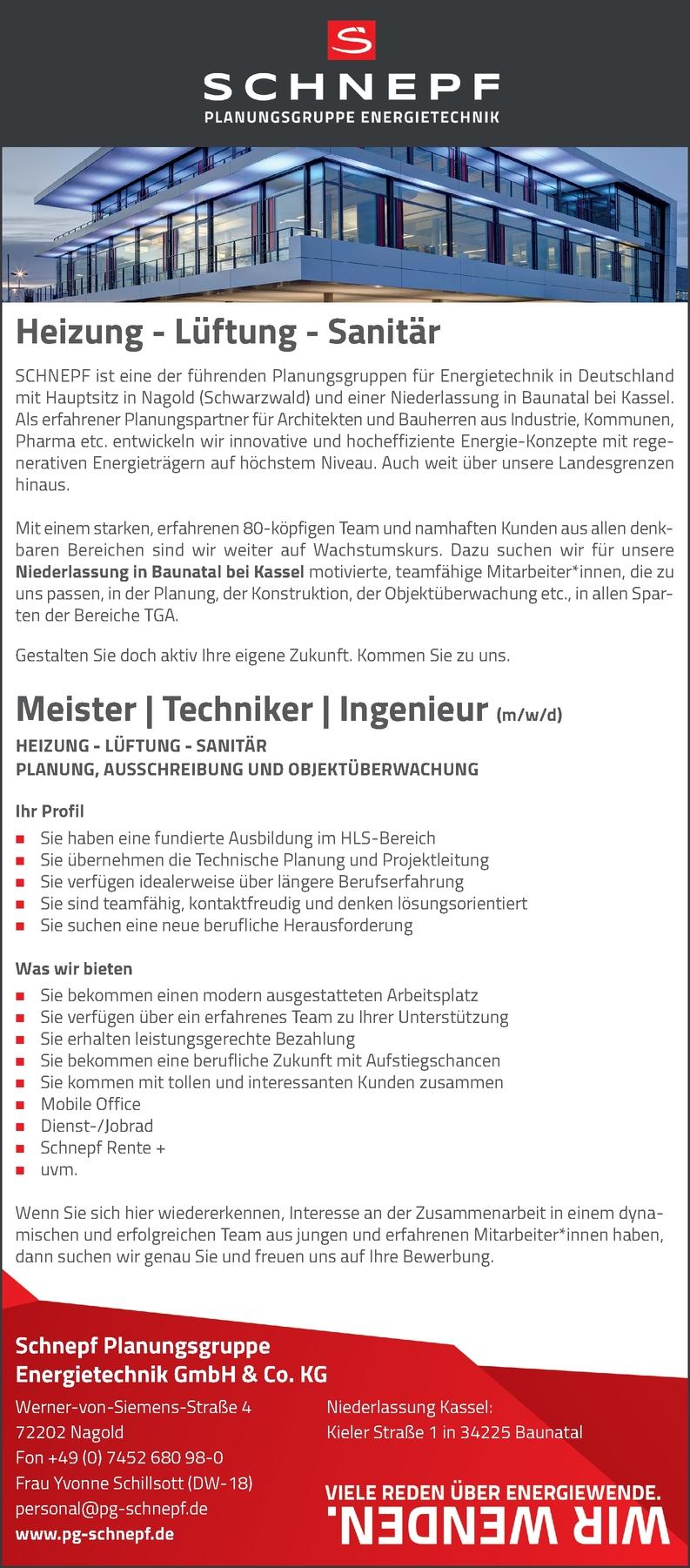 Meister Techniker Ingenieur HLS