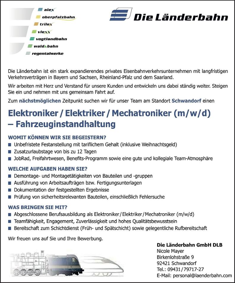 Elektroniker/Elektriker/Mechatroniker m/w/d