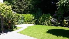 Tuin vanaf terras woning