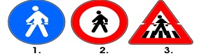 Care din indicatoarele alaturate creeaza obligatii pentru conducatorii de autovehicule?