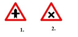 Care din indicatoarele alaturate va avertizeaza ca va apropiati de o intersectie nedirijata?