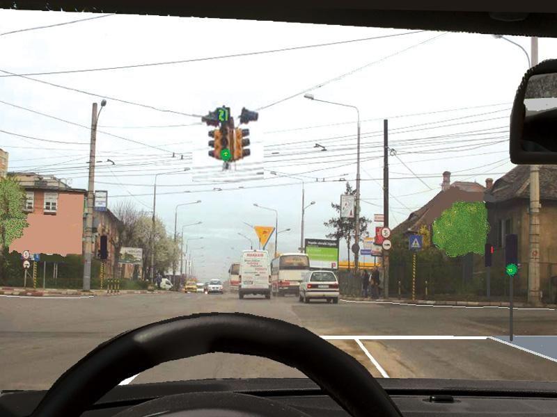 Cum veţi proceda corect în această intersecţie, dacă semaforul este instalat deasupra intersecţiei?
