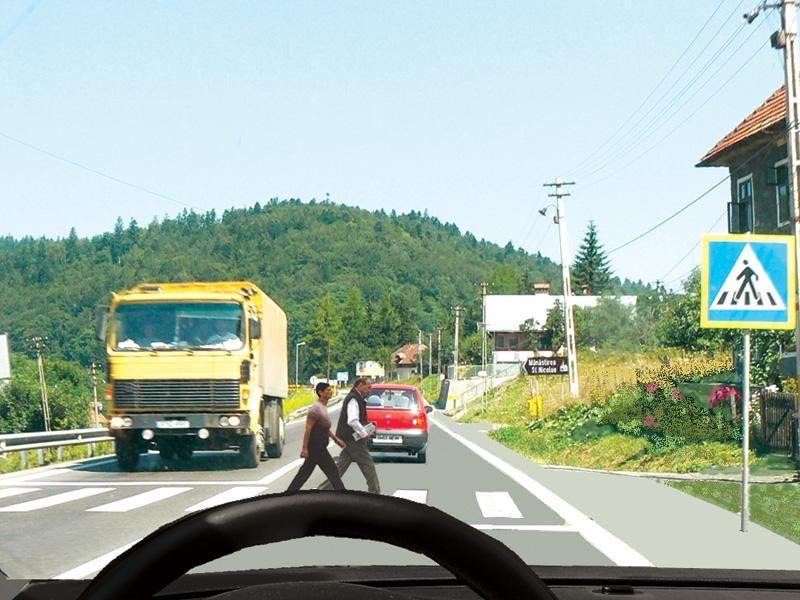 Care dintre autovehicule trebuie să acorde prioritate pietonilor?