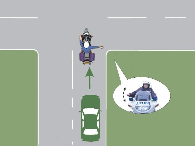 Ce trebuie să facă conducătorul auto în situaţia prezentată?