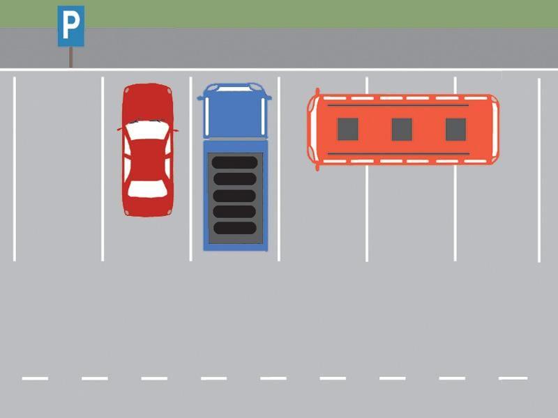 Care dintre autovehicule este parcat regulamentar?