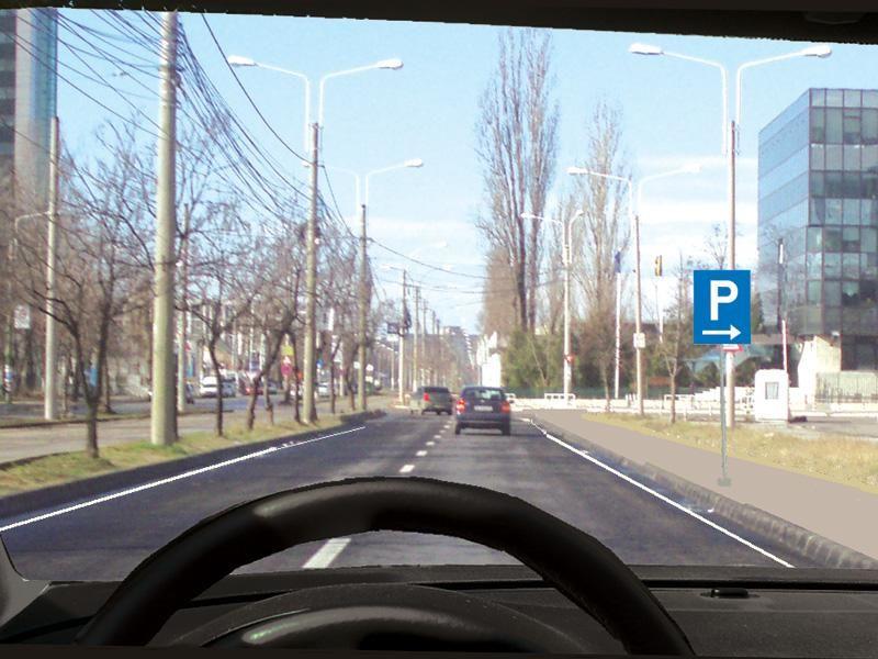 Unde veţi parca autovehiculul la întâlnirea acestui indicator?