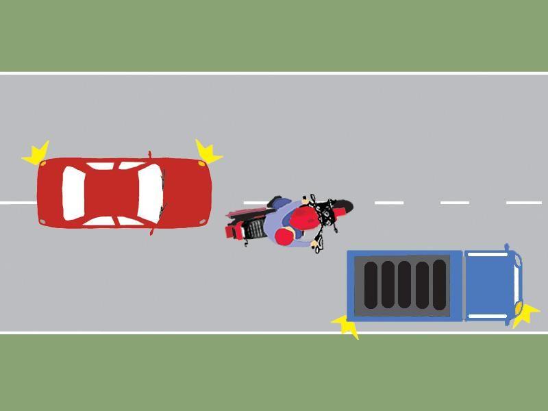 Procedează corect motociclistul din imaginea alăturată?