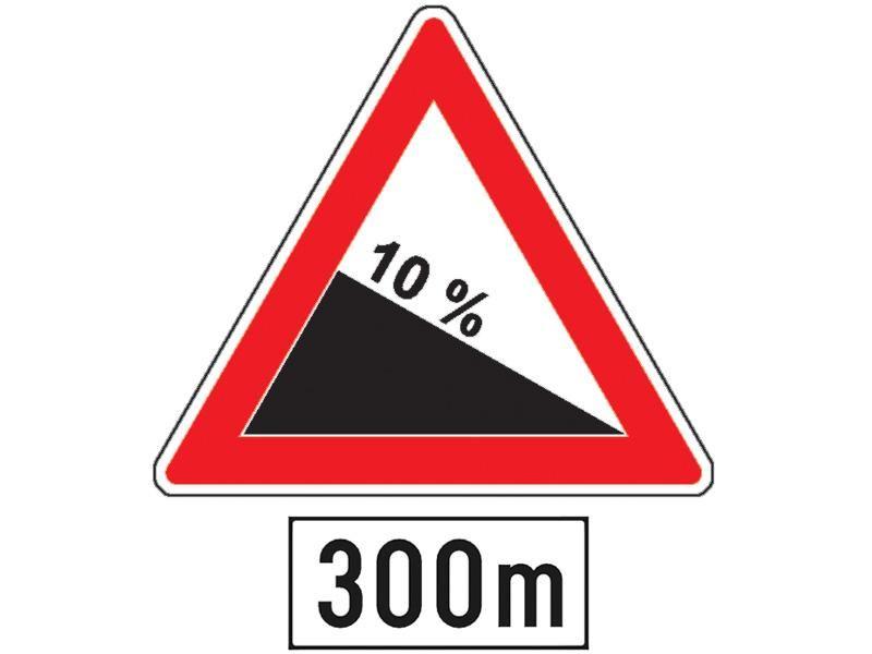 Ce vă avertizează indicatorul din imagine însoţit de panoul adiţional?