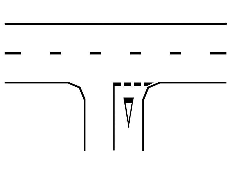 Ce semnificaţie are marcajul rutier din imagine?